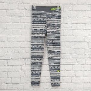 Nike Pro | Grey Print Leggings Full Length